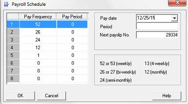 BV Payroll Schedule
